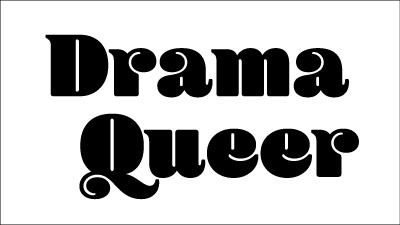 Drama Queer t-shirt design process: the font