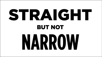 Straight But Not Narrow t-shirt design process: choosing the fonts