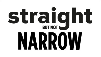 Straight But Not Narrow t-shirt design process: another font option